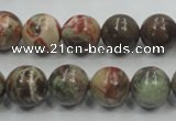 CRA03 15.5 inches 12mm round natural rainforest agate gemstone beads