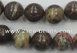 CRA05 15.5 inches 16mm round natural rainforest agate gemstone beads