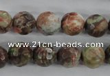 CRA104 15.5 inches 14mm faceted round rainforest agate gemstone beads