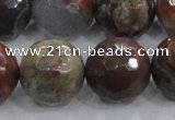 CRA107 15.5 inches 20mm faceted round rainforest agate beads