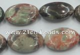 CRA16 15.5 inches 18*25mm oval natural rainforest agate beads
