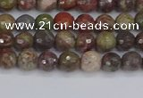 CRA160 15.5 inches 4mm faceted round rainforest agate beads