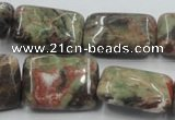 CRA25 15.5 inches 22*30mm rectangle natural rainforest agate beads