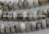 CRB07 15.5 inches 5*8mm rondelle grey agate gemstone beads