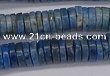 CRB1028 15.5 inches 2*7mm heishi lapis lazuli beads wholesale