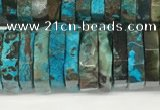 CRB1083 15.5 inches 5*20mm - 6*22mm faceted heishi ocean agate beads