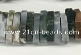 CRB1084 15.5 inches 5*20mm - 6*22mm faceted heishi ocean jasper beads