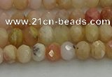 CRB1215 15.5 inches 4*6mm faceted rondelle pink opal beads