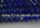CRB1217 15.5 inches 4*6mm faceted rondelle lapis lazuli beads