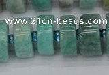CRB1235 15.5 inches 8*16mm tyre amazonite gemstone beads