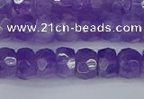 CRB1275 15.5 inches 5*8mm faceted rondelle lavender amethyst beads