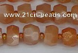 CRB1292 15.5 inches 6*10mm faceted rondelle moonstone beads