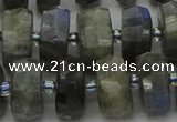 CRB1303 15.5 inches 7*14mm faceted rondelle labradorite beads