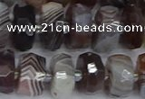 CRB1382 15.5 inches 6*12mm faceted rondelle botswana agate beads