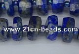 CRB1392 15.5 inches 6*12mm faceted rondelle lapis lazuli beads