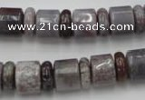CRB142 15.5 inches 6*12mm & 10*12mm rondelle ocean agate beads