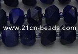 CRB1451 15.5 inches 8*10mm faceted rondelle lapis lazuli beads