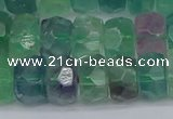 CRB1465 15.5 inches 6*10mm faceted rondelle fluorite beads