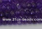 CRB1804 15.5 inches 4*6mm faceted rondelle amethyst beads