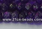 CRB1806 15.5 inches 6*10mm faceted rondelle amethyst beads
