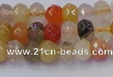CRB1820 15.5 inches 4*6mm faceted rondelle mixed rutilated quartz beads