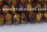 CRB1841 15.5 inches 5*8mm faceted rondelle yellow tiger eye beads