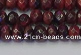 CRB1846 15.5 inches 6*10mm faceted rondelle red tiger eye beads