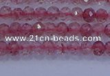 CRB1863 15.5 inches 2*3mm faceted rondelle strawberry quartz beads