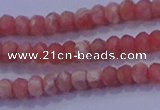 CRB1884 15.5 inches 2*3mm faceted rondelle rhodochrosite beads