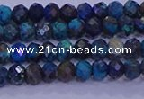 CRB1907 15.5 inches 2.5*4mm faceted rondelle chrysocolla & turquoise beads