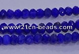 CRB1910 15.5 inches 2.5*4mm faceted rondelle lapis lazuli beads