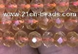 CRB1948 15.5 inches 3.5*5mm faceted rondelle citrine gemstone beads