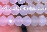 CRB1962 15.5 inches 4*6mm faceted rondelle white moonstone beads