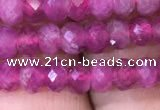 CRB1973 15.5 inches 3*5mm faceted rondelle pink tourmaline beads
