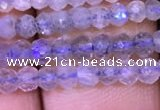 CRB1980 15.5 inches 3*4mm faceted rondelle labradorite beads