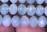CRB1987 15.5 inches 4*6mm faceted rondelle amazonite gemstone beads