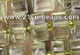 CRB2030 15.5 inches 7mm - 8mm faceted tyre lemon quartz beads