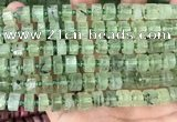 CRB2040 15.5 inches 7mm - 8mm faceted tyre prehnite beads