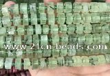 CRB2041 15.5 inches 9mm - 10mm faceted tyre prehnite beads