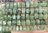 CRB2044 15.5 inches 13mm - 14mm faceted tyre prehnite beads
