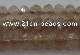 CRB211 15.5 inches 3*4mm faceted rondelle strawberry quartz beads