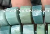 CRB2115 15.5 inches 7mm - 8mm faceted tyre amazonite beads