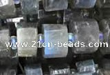 CRB2131 15.5 inches 9mm - 10mm faceted tyre labradorite gemstone beads