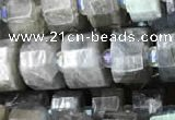 CRB2132 15.5 inches 11mm - 12mm faceted tyre labradorite gemstone beads