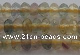CRB214 15.5 inches 3*4mm faceted rondelle yellow fluorite beads