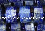 CRB2141 15.5 inches 9mm - 10mm faceted tyre lapis lazuli beads