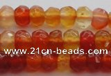 CRB215 15.5 inches 3*4mm faceted rondelle red agate beads