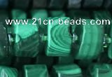 CRB2152 15.5 inches 11mm - 12mm faceted tyre malachite beads