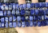 CRB2178 15.5 inches 13mm - 14mm faceted tyre sodalite beads