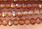 CRB2213 15.5 inches 2*3mm faceted rondelle orange garnet beads